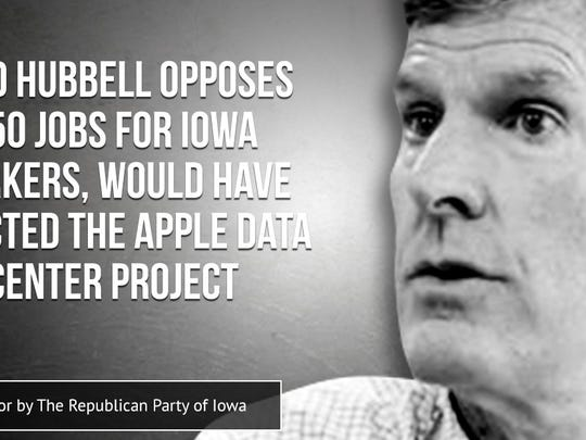 Republican Party of Iowa ad attacks Democratic candidates for governor.