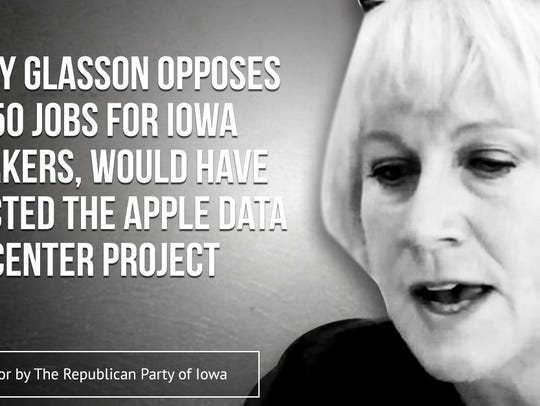 Republican Party of Iowa ad targets Democratic candidate