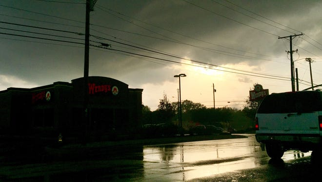 Storm clouds of Jackson, Miss.