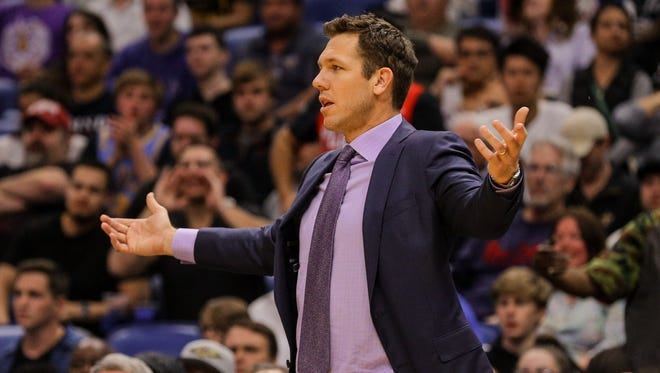 Luke Walton, who played for the Lakers from 2003-'12, became coach in April 2016.