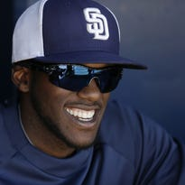San Diego Padres center fielder Cameron Maybin is hitting .316 this spring.