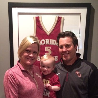 Scott Shepherd with wife Margaret and son Hudson.