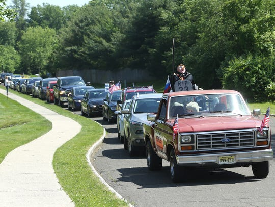 The People's Motorcade from Ten Eyck Park in Branchburg