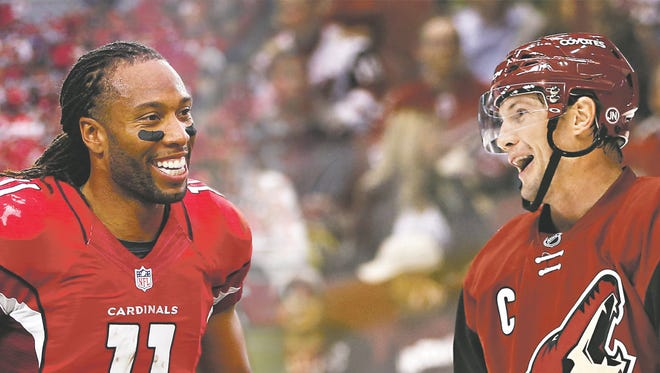 Both Larry Fitzgerald and Shane Doan are enjoying late surges for their respective Arizona sports teams.