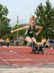 Kinnelon's Kathryn Brown competes in the triple jump