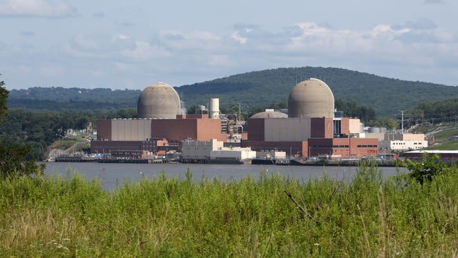 The Indian Point nuclear power plant in Buchanan, as seen from across the Hudson River in Tomkins Cove.