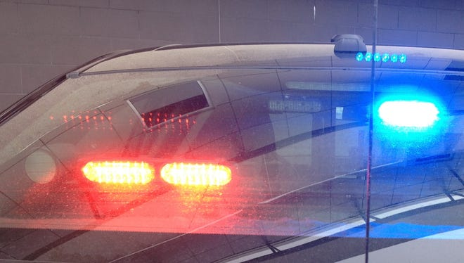 Two people were injured in a one-vehicle rollover Tuesday.