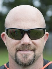 Cherokee Varsity football head coach, P.J. Mehigan