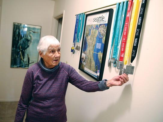 Juanita Adkins, of Olalla, is 92 and still doing a half-marathon in Seattle on Sunday.