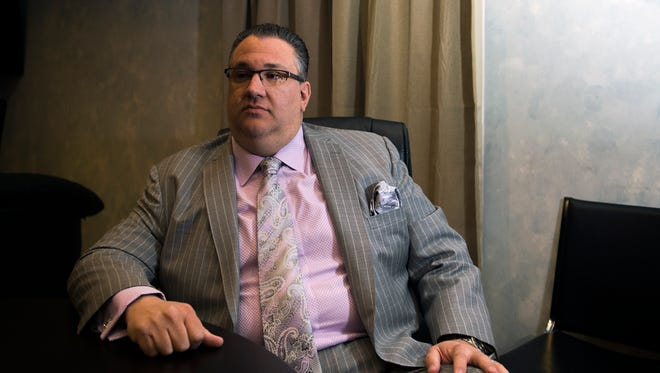 City council president Anthony R. Fanucci sits down for an interview Thursday, April 14 with the Daily Journal before announcing his candidacy for mayor of Vineland.