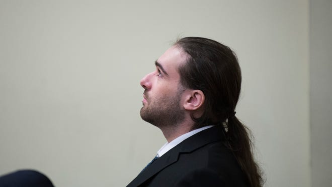 """David """"DJ"""" Creato Jr. looks on as Judge John T. Kelley dismisses a deadlocked jury in a trial involving the death of Creato's 3-year-old son Wednesday, May 31, 2017 in Camden. A new trial date will be discussed in July."""