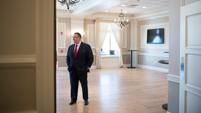 Vineland Mayor Anthony Fanucci in the hallway before a 'State of the City' address Thursday, Jan. 18, 2018 in Vineland, N.J.