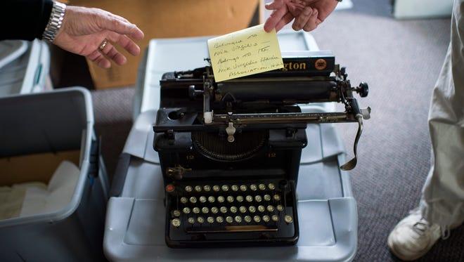 Haiku poet Nick Virgilio's original Remington typewriter is on view in the Nick Virgilio Writers House in South Camden.