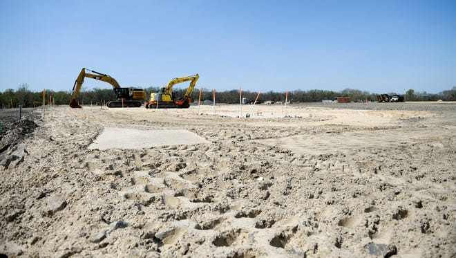 This section of the former U.S. Pipe and Foundry in Burlington Township is being developed into an Amazon distribution warehouse that will begin hiring more than 600 workers.