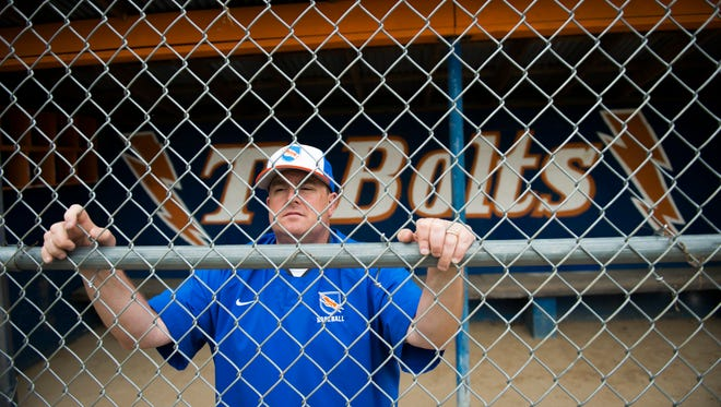 Millville baseball coach Kenny Williams poses for a portrait Friday, May 18, 2018 at Millville High School in Millville, N.J.