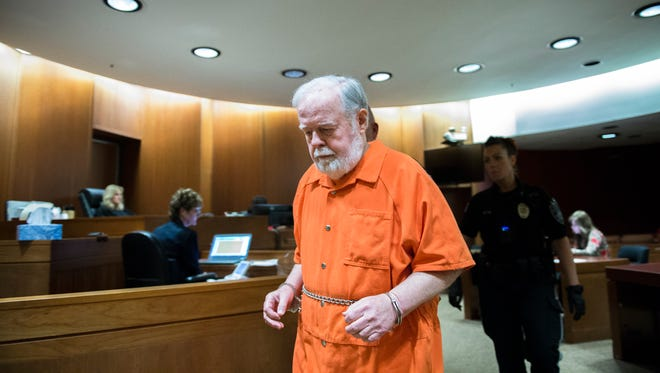 Harry Thomas, a 75-year-old Medford pastor who pleaded guilty in June to sexually assaulting four minors and having 'inappropriate interactions' with a fifth, appears in court for a hearing Friday, July 20, 2018 in Mount Holly, N.J. Thomas, who formerly led Come Alive Church and promoted Christian music concerts, committed the crimes in Medford between 1999 and 2015, the Burlington County Prosecutor's Office said.