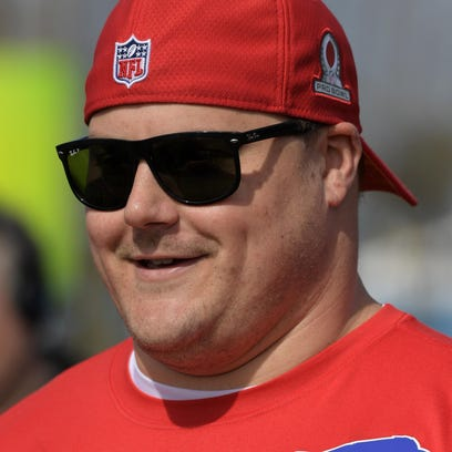 Richie Incognito during a break from Pro Bowl practice.