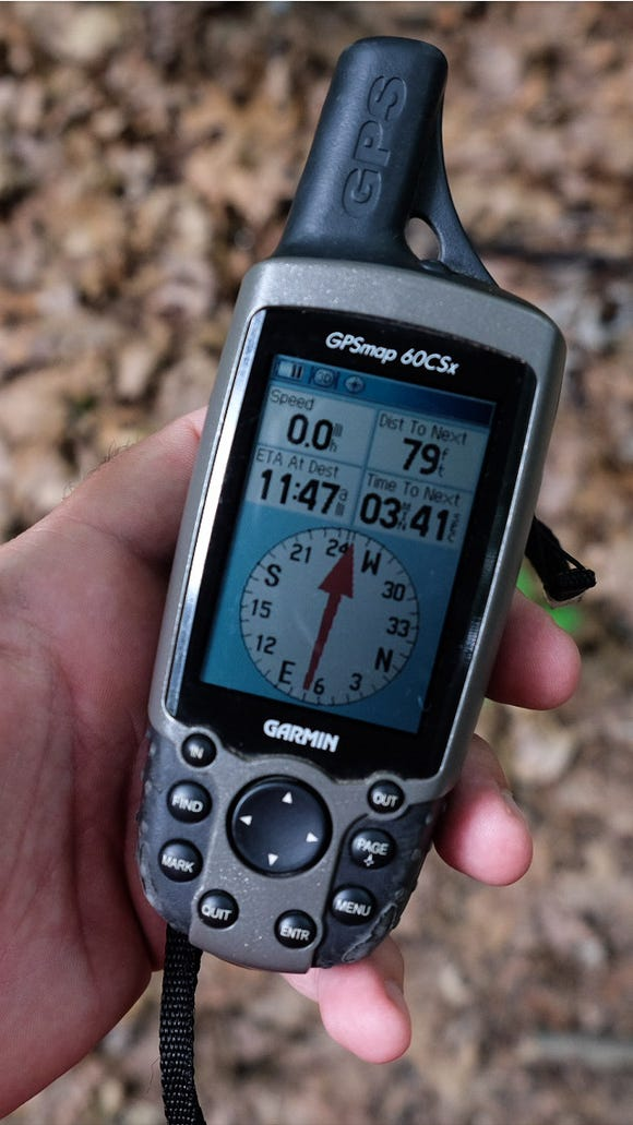 GPS used while geocaching.