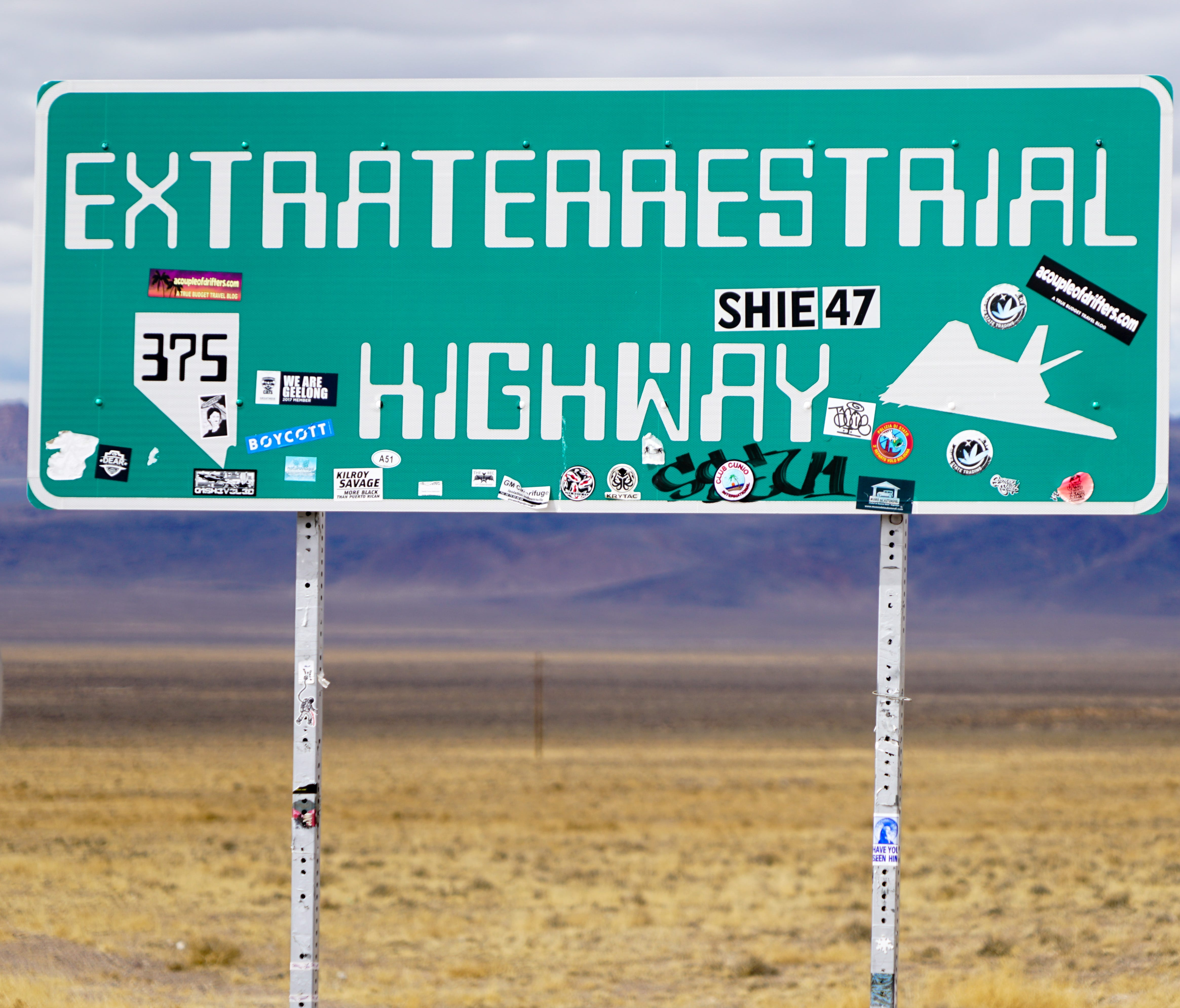 Nevada's Extraterrestrial Highway draws visitors from around the world (and maybe from other ones too!) to check out Area 51.