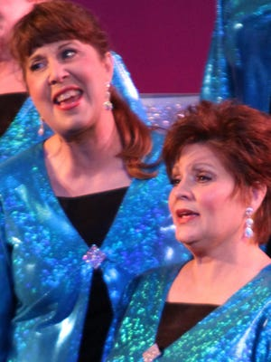 Cindy Dean and Lometa Rorie with the Ruston Sweet Adelines.