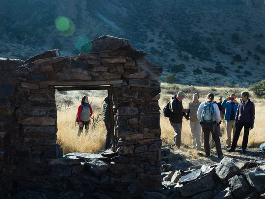 Secretary of the Interior Sally Jewell hikes the trails