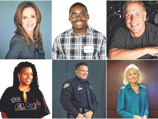 Some of the people of the year finalists. The winners will be announced Feb. 19