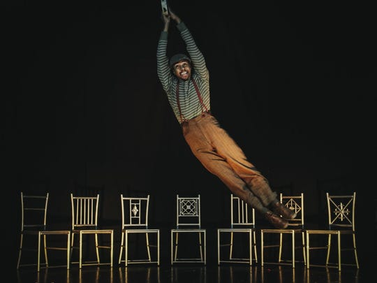 """""""The Scottsboro Boys"""" actor Nathan Andrew Riley in a promotional image for Phoenix Theatre's upcoming production."""