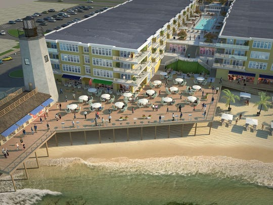 A rendering of the Lighthouse Cove redevelopment project.