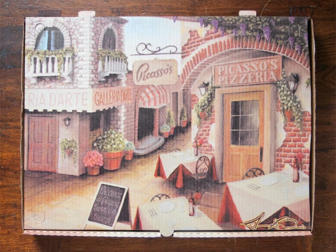 Picasso's Pizzeria in Buffalo, N.Y., commissioned local artist Michael Biondo to create this image of an Italian village.