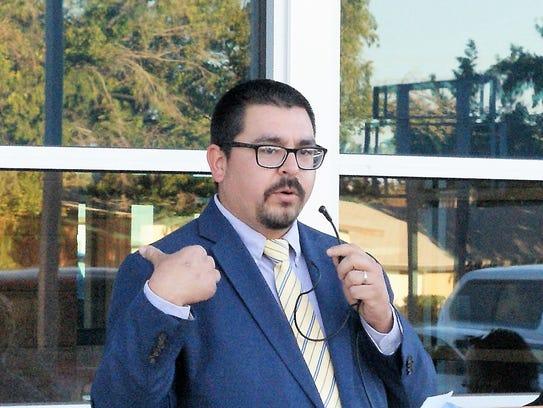 Board of Education President Matt Robinson informed
