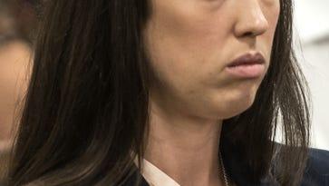 Ex-Parsippany Hills High School teacher Jenna Leahey in Superior Court, Morristown.