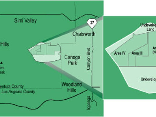 Maps of the former Santa Susana Field Lab in the hills
