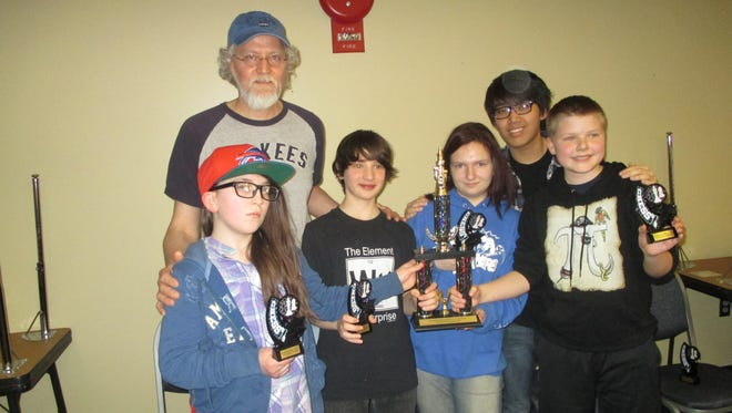 SOTA with its chess league trophy. Coach Lanik, upper left.