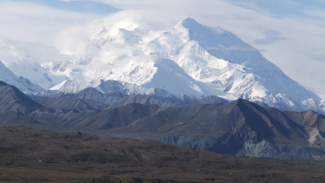 North America's tallest peak, Mount McKinley, on Aug. 27, 2014. President Obama will announce Monday that his administration is changing the mountain's name back to Denali.