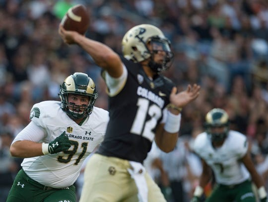 CSU lineman Jakob Buys celebrates sets his sights on