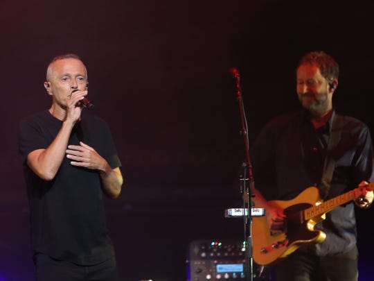 Tears for Fears performs on stage at Gila River Arena in Glendale, Ariz. on July 17, 2017.