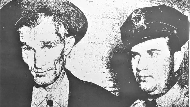 Clifton Spires (left) with a Capitol policeman.
