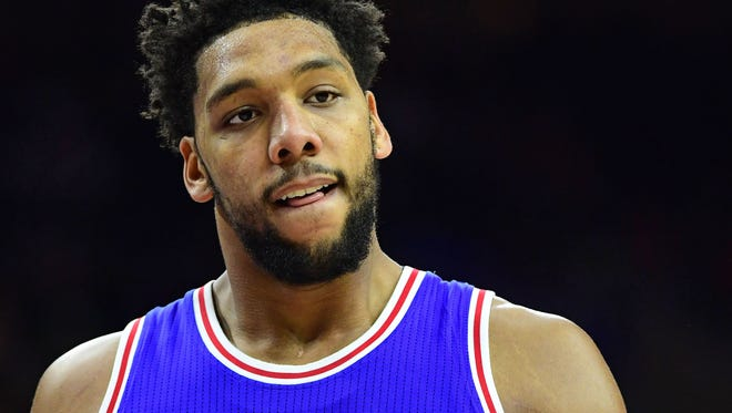 Jahlil Okafor (8) could be moved from Philadelphia to New Orleans.