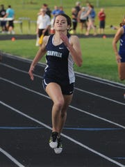 Granville junior Natalie Price competes in the 400 this past Friday during the Division I regional meet. She placed second to qualify for the state meet.