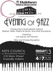 Baldwin Piano and Organ Center will be at the Arts Council for a pop up exhibit and will host a reception on Jan. 13.