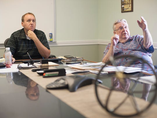Kevin Norman Jr., left, and Terry Whaley Sr., right,