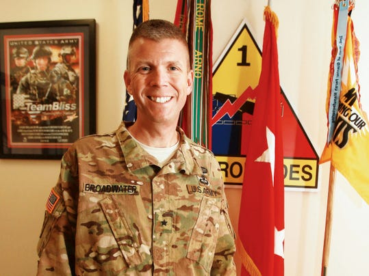 Brig. Gen. Jeff Broadwater is the newest general officer to the 1st Armored Division staff.