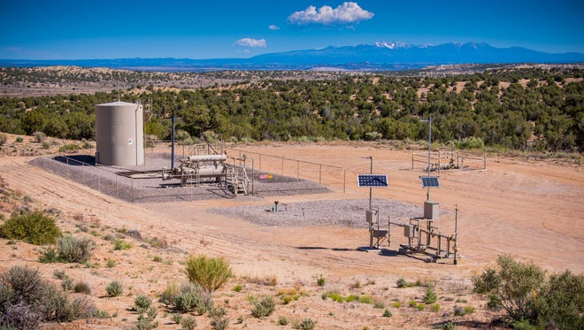 XTO Energy Inc., which operates in the Four Corners and San Juan Basin out of an Aztec office, is part of The Environmental Partnership addressing methane releases. This is one of their operations near Aztec.