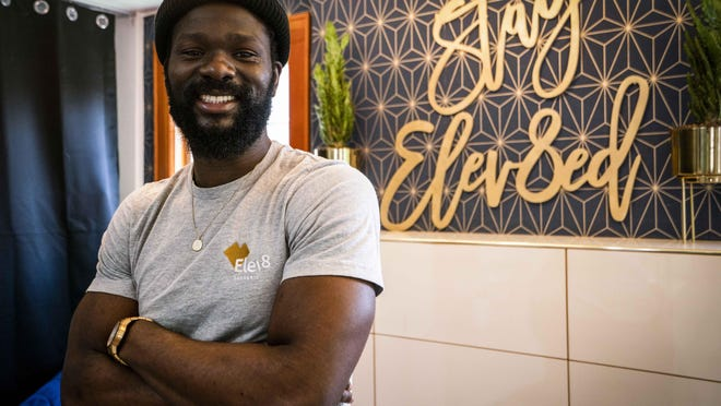 Seun Adedeji is the youngest African American man in the United States to own a dispensary. Amid national protests, he has asked those calling for justice to think about being intentional with their money by supporting local, Black-owned businesses. [Dana Sparks/The Register-Guard] - registerguard.com