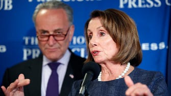 Senate Democratic Leader Charles Schumer of New York and House Democratic Leader Nancy Pelosi of California.