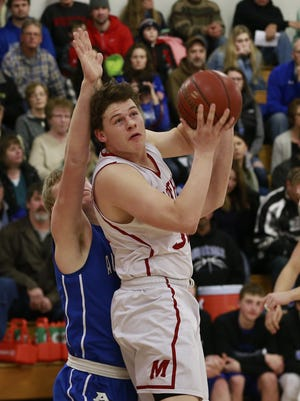 Carter Hanke and Marathon are ranked 10th in Division 4 in the final Associated Press boys basketball poll of the season.