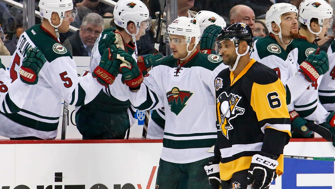 Staal helps wild hand pens first home loss for Bed tech 3000