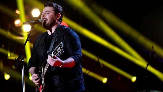 Chris Young performs during the CMA Music Festival on June 10, 2017, at Nissan Stadium. The Murfreesboro native will headline Nashville's Let Freedom Sing! Music City July 4th event.