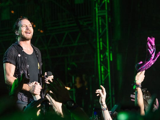 Eddie Vedder of Pearl Jam performs at Bonnaroo Music and Arts Festival in 2016.