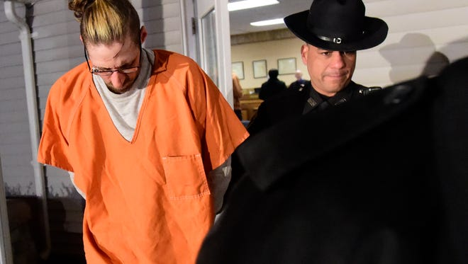 Michael Fiocco, 33, was arraigned on a second-degree murder charge at the Town of Maine Court in the death of Shannon Laskaris 34, on Friday evening.